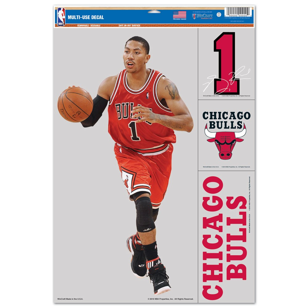 Chicago Bulls Official NBA 11 inch x 17 inch  Car Window Cling Decal by WinCraft