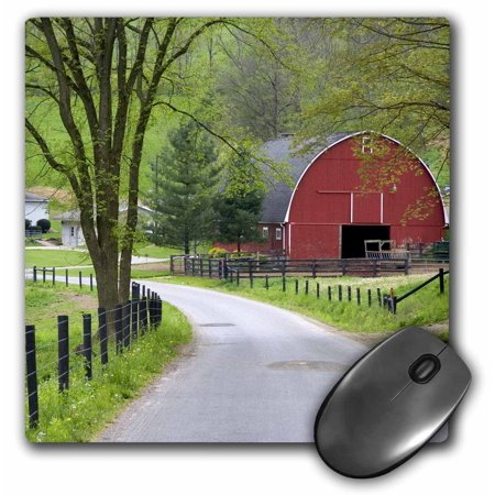 3dRose Red barn and farm house near Berlin, Ohio - US36 DFR0019 - David R. Frazier, Mouse Pad, 8 by 8 inches