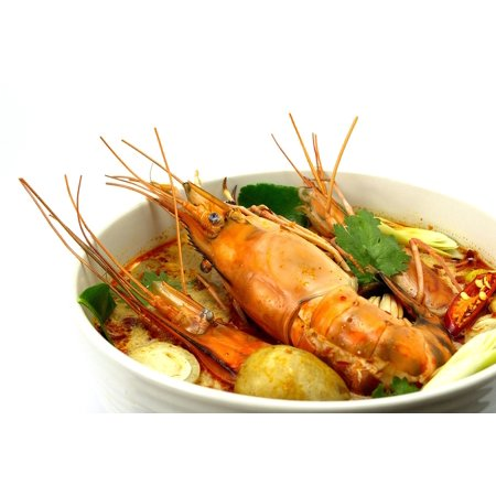 Canvas Print Food Hot And Sour Soup Shrimp Tom Yum Goong Stretched Canvas 10 x (Hot Shrimp)