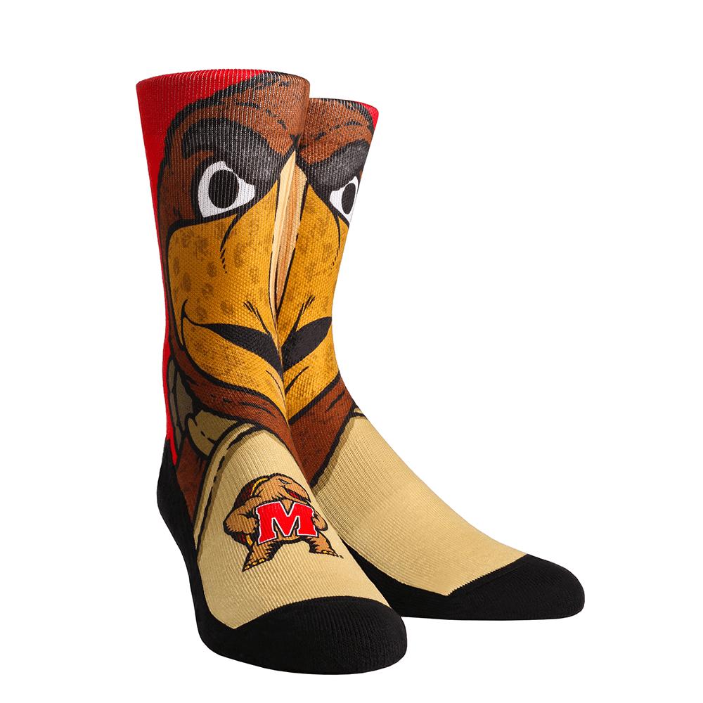 Rock Em Elite Maryland Terrapins Testudo Mascot NCAA Licensed Crew Socks