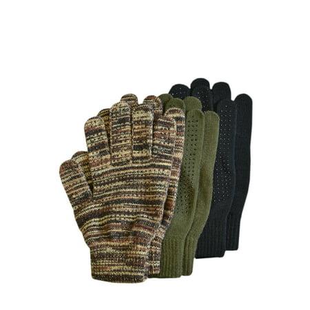 QuietWear 3-Pair Pack Grip Dot Assorted Gloves, Assorted