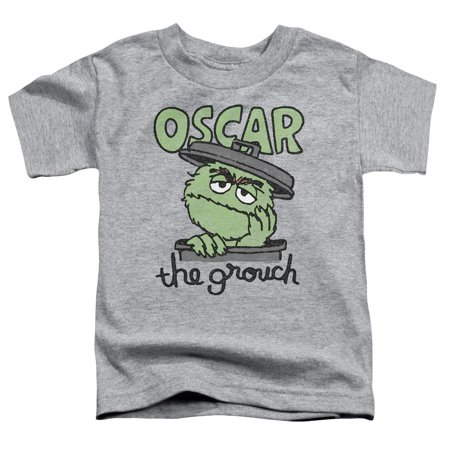 Trevco SESAME STREET CANNED GROUCH Athletic Heather Toddler Unisex T-Shirt