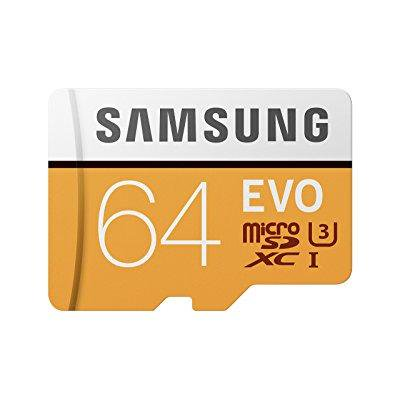 SAMSUNG 64GB EVO Class 10 Micro SDXC Card with Adapter - MB-MP64GA/AM