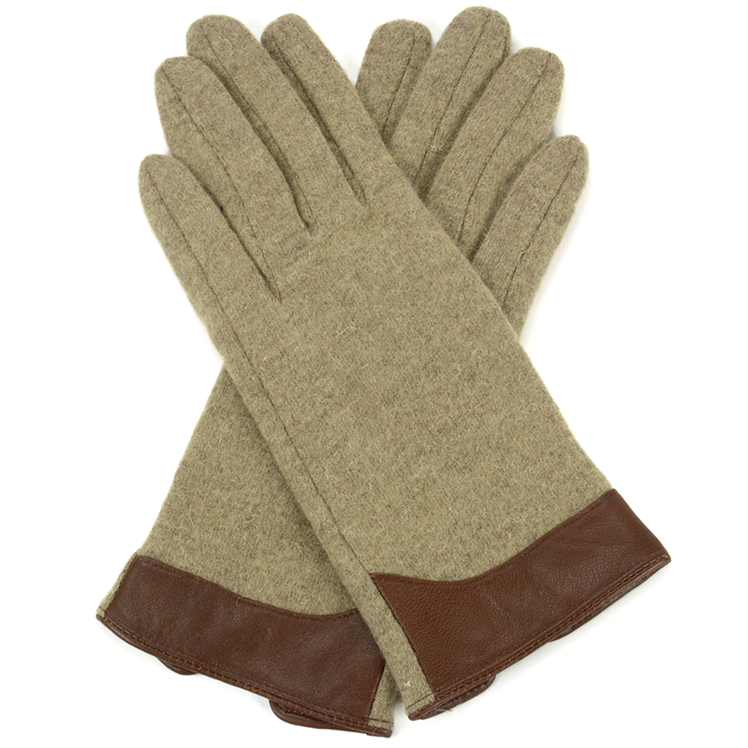 Alpine Swiss Womens Evening Gloves Leather Trim Touchscreen Texting Wool Mittens by alpine swiss