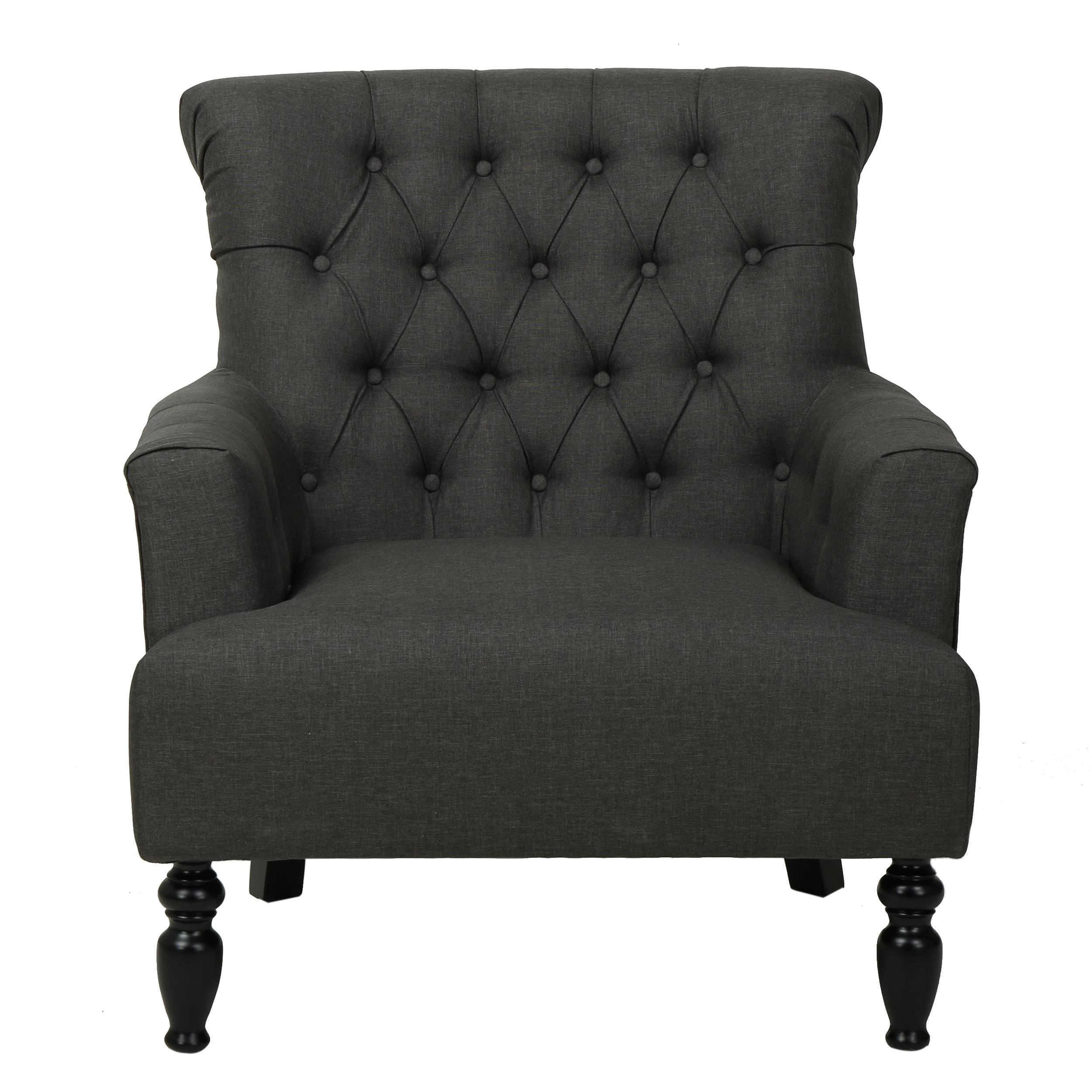 Byron Fabric Club Chair, Dark Grey
