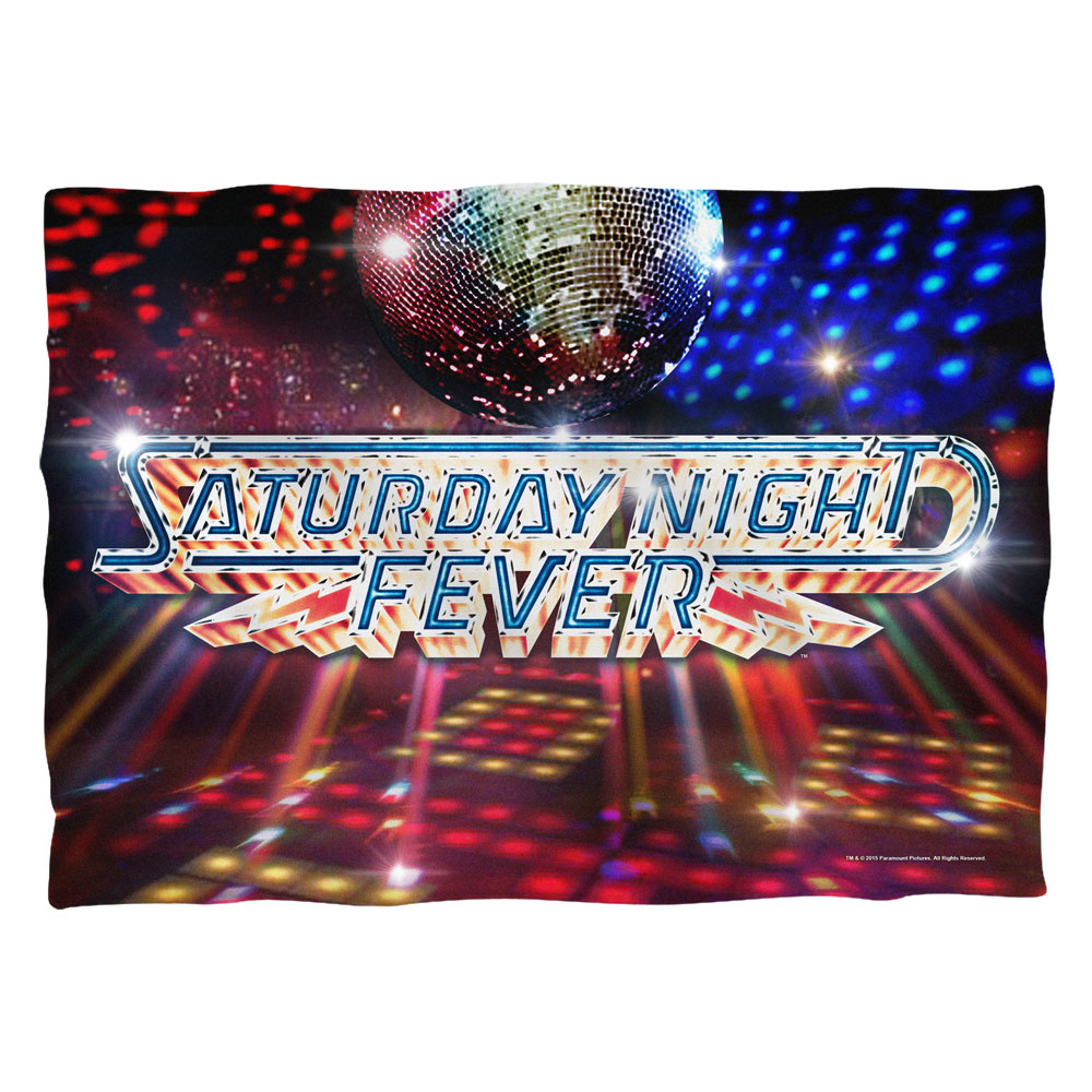 Saturday Night Fever 1977 Musical Drama Movie Disco Ball Logo Pillow Case