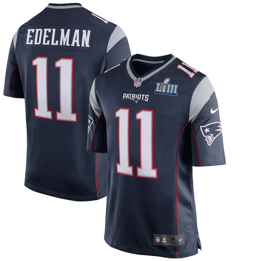 Julian Edelman New England Patriots Nike Super Bowl LIII Bound Game Jersey - Navy