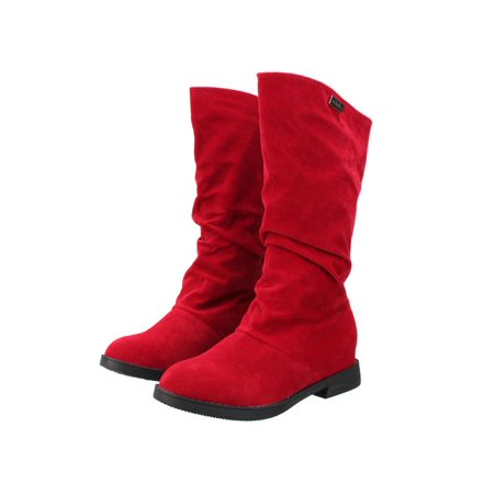 Hot Gear Boot Bag (Meigar Womens Winter Warm Shoes Riding Boots Slouch Flat Heel Boot Hot Stylish)