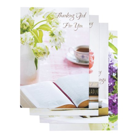 Birthday - Inspirational Boxed Cards - Floral12 envelopes By Dayspring (Dayspring Birthday Cards)