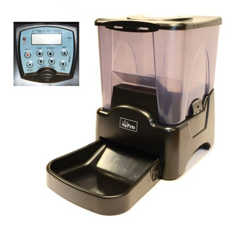 topPets Large Automatic Pet Feeder Electronic Programmable Portion Control Dog Cat Feeder w/ LCD