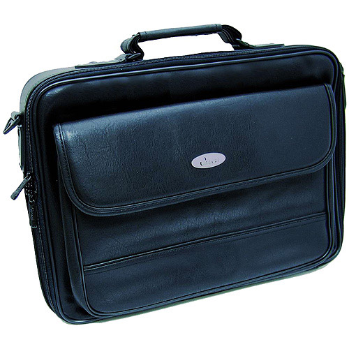 "Inland 15.6"" Leather Notebook Carrying Case"