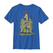 Teenage Mutant Ninja Turtles Boys' 4th Birthday Pizza Party T-Shirt