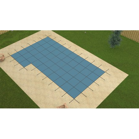 GLI 20'x40' BLUE MESH In-Ground Swimming Pool Safety Cover w/4'x8' Left Step