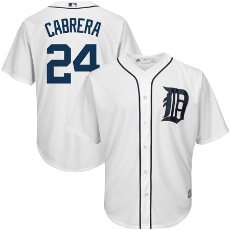 Cabrera Jersey - Miguel Cabrera Detroit Tigers Majestic Big & Tall Official Cool Base Player Jersey - White