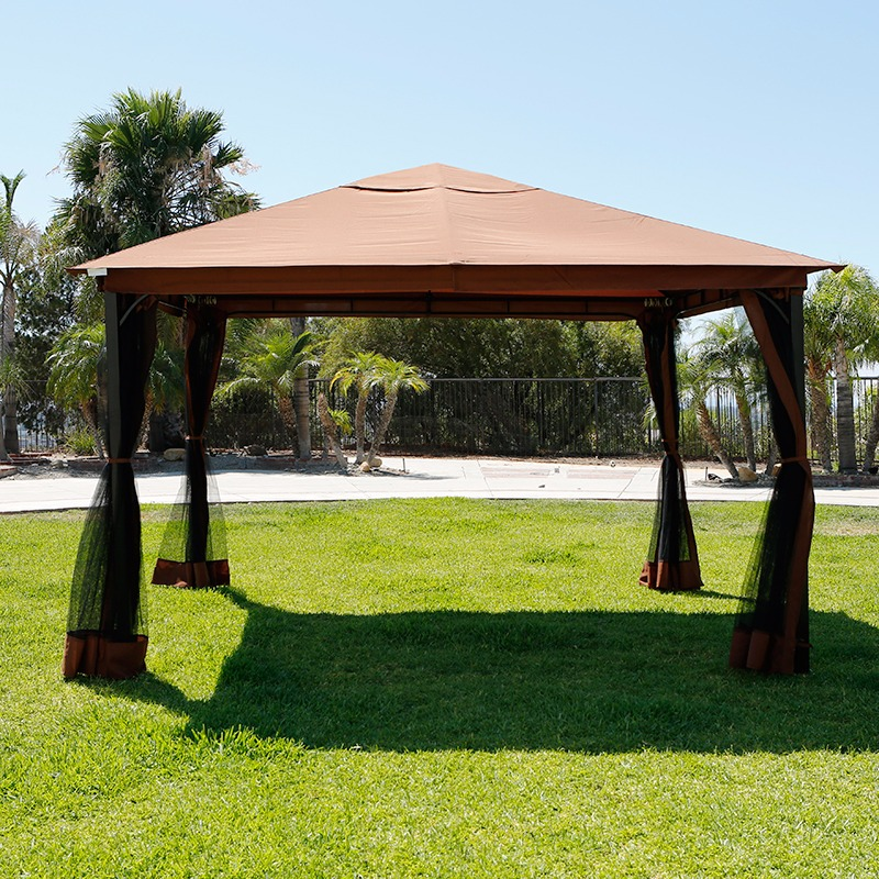 10u0027 x 12u0027 Outdoor Backyard Regency Patio Canopy Gazebo Tent with Netting - Walmart.com & 10u0027 x 12u0027 Outdoor Backyard Regency Patio Canopy Gazebo Tent with ...