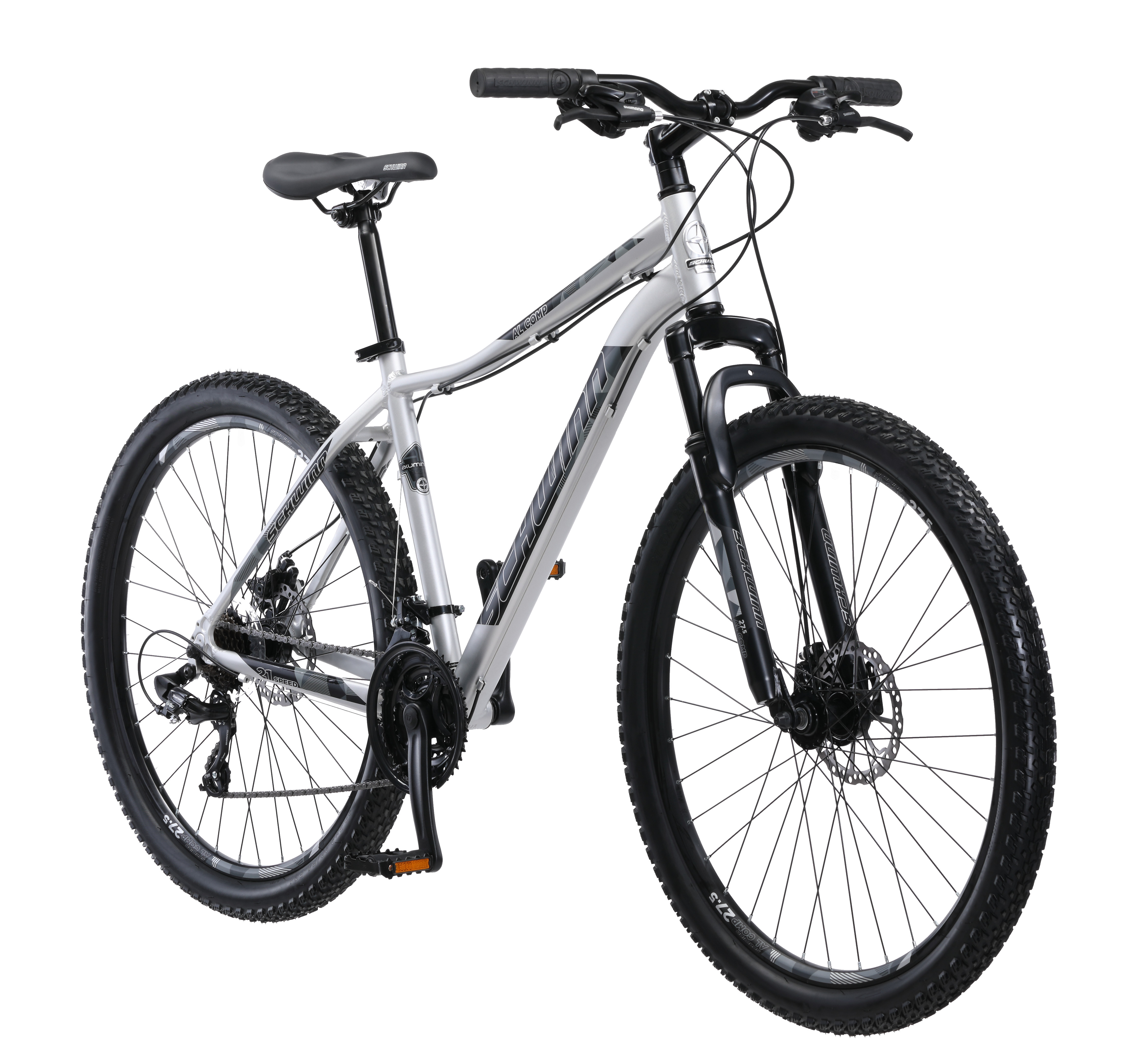 "27.5"" Schwinn Aluminum Comp Men's Mountain Bike, Silver"