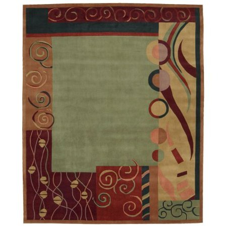 Nourison Dimensions Handmade Green Area Rug