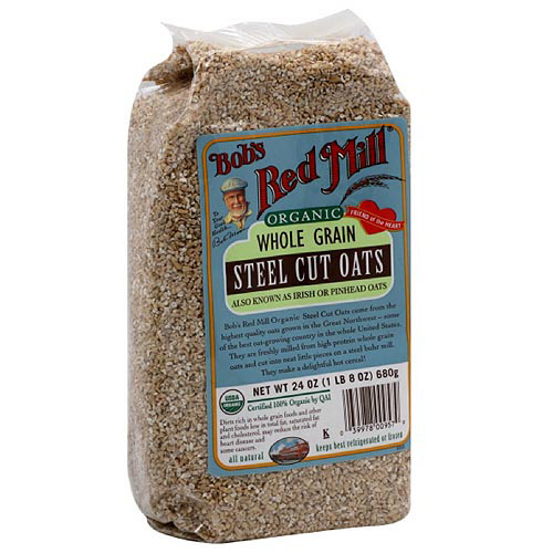 Bob's Red Mill Organic Whole Grain Steel Cut Oats, 24 oz (Pack of 4)