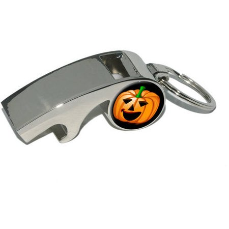 Jack-o-lantern, Pumpkin, Halloween, Plated Metal Whistle Bottle Opener Keychain Key Ring](Metal Halloween Pumpkin Lantern)