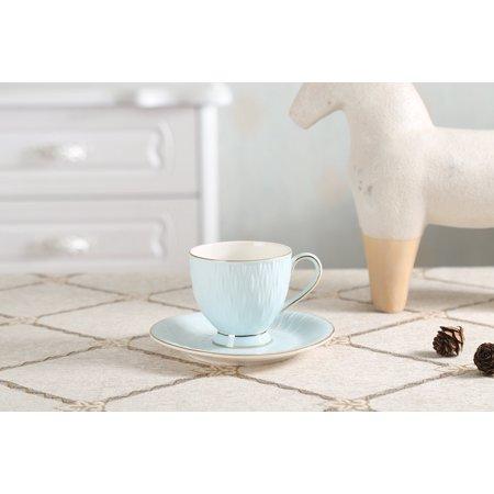 Imari Coffee Saucer - SOLECASA 6-OZ Set of 2 Crystal Porcelain Espresso/Tea/Coffee Cup and Saucer Set