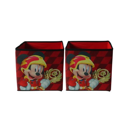 Disney Mickey 2 Pack Collapsible Storage Cube, 10 x 10 ()