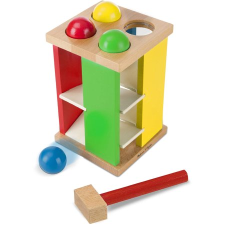 Melissa   Doug Deluxe Pound And Roll Wooden Tower Toy With Hammer