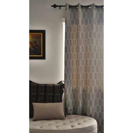 EverRouge Geometric Solar Blackout Curtain Panel,