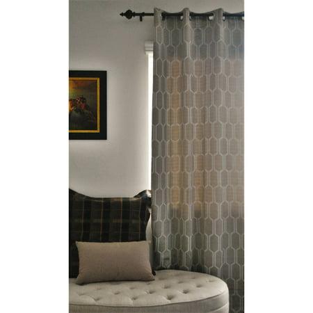 everrouge geometric solar blackout curtain panel ivory