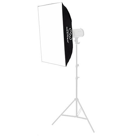 Neewer 20x28 inches/50x70 centimeters Square Photography Light Tent Photo Cube Softbox for Neewer Godox 300DI 250DI 300SDI 250SDI 180W Studio Light(Softbox Only, Strobe Light and Stand Not Included)