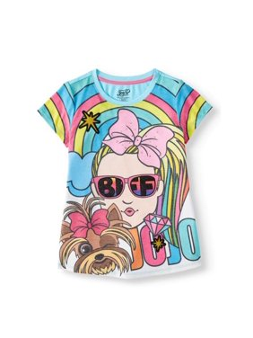 Nickelodeon JoJo Siwa and BowBow Glitter Graphic T-Shirt (Little Girls & Big Girls)