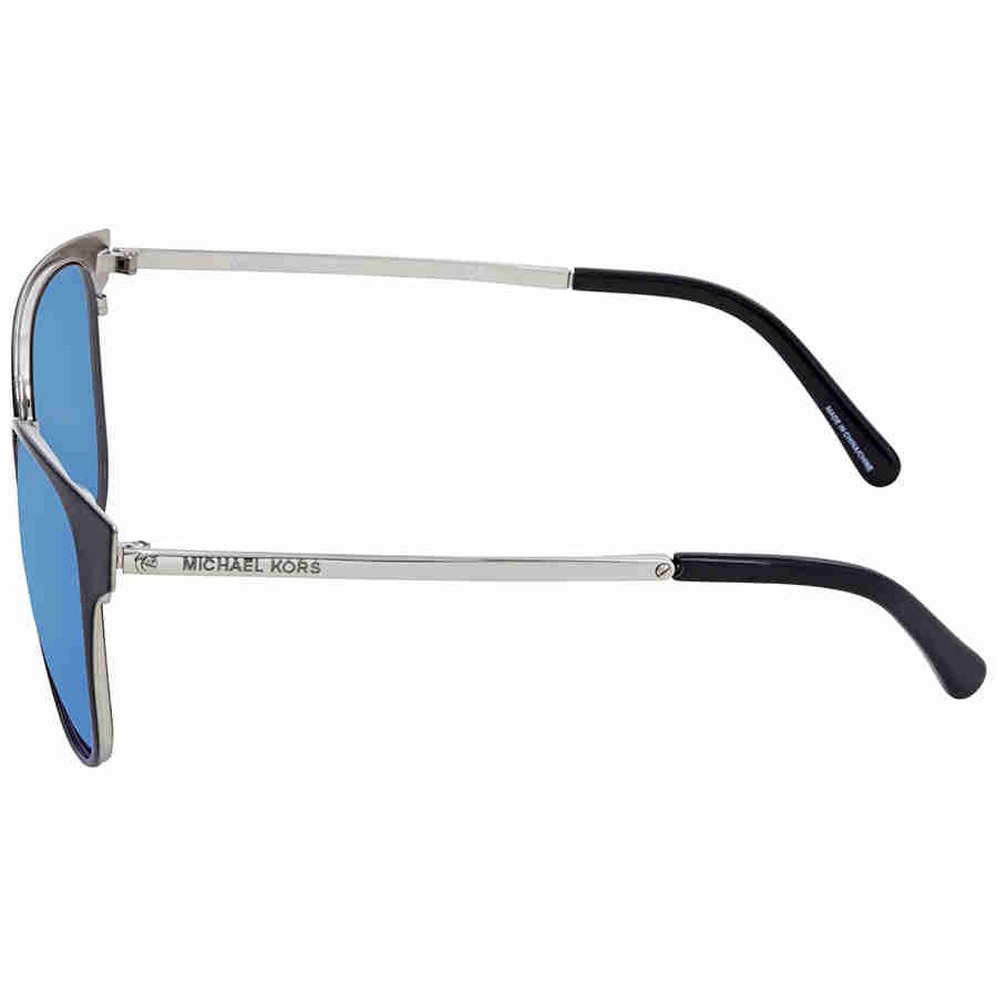 759cb2fba9 Michael Kors - Michael Kors Women s Tia MK1022 MK 1022 118525 Black Silver  Sunglasses 54mm - Walmart.com