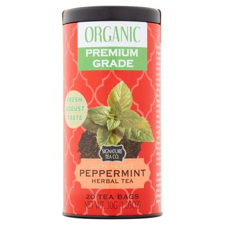 Signature Tea Co. à base de plantes de menthe poivrée biologique thé, chef 20, 1,05 oz