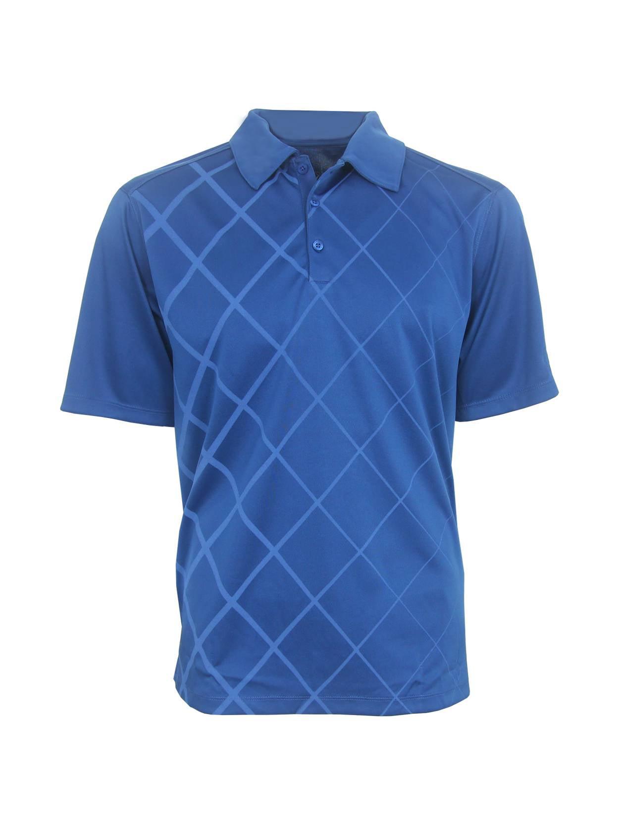 Pga Tour Mens Diamond Print Polo Golf Shirt Brand New Walmart