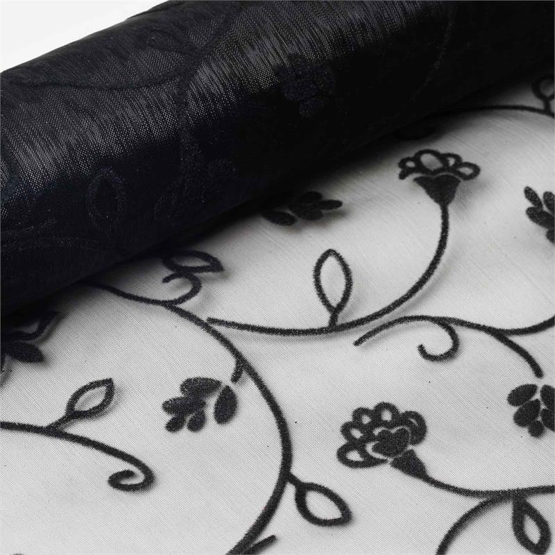 "BalsaCircle 12"" x 10 yards Embossed Sheer Organza Fabric Bolt Put-up - Sewing Crafts Draping Decorations Supplies"