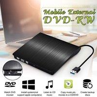 External DVD Drive, USB 3.0 External DVD RW CD Writer Drive Burner Reader Player Optical Drives For Laptop PC