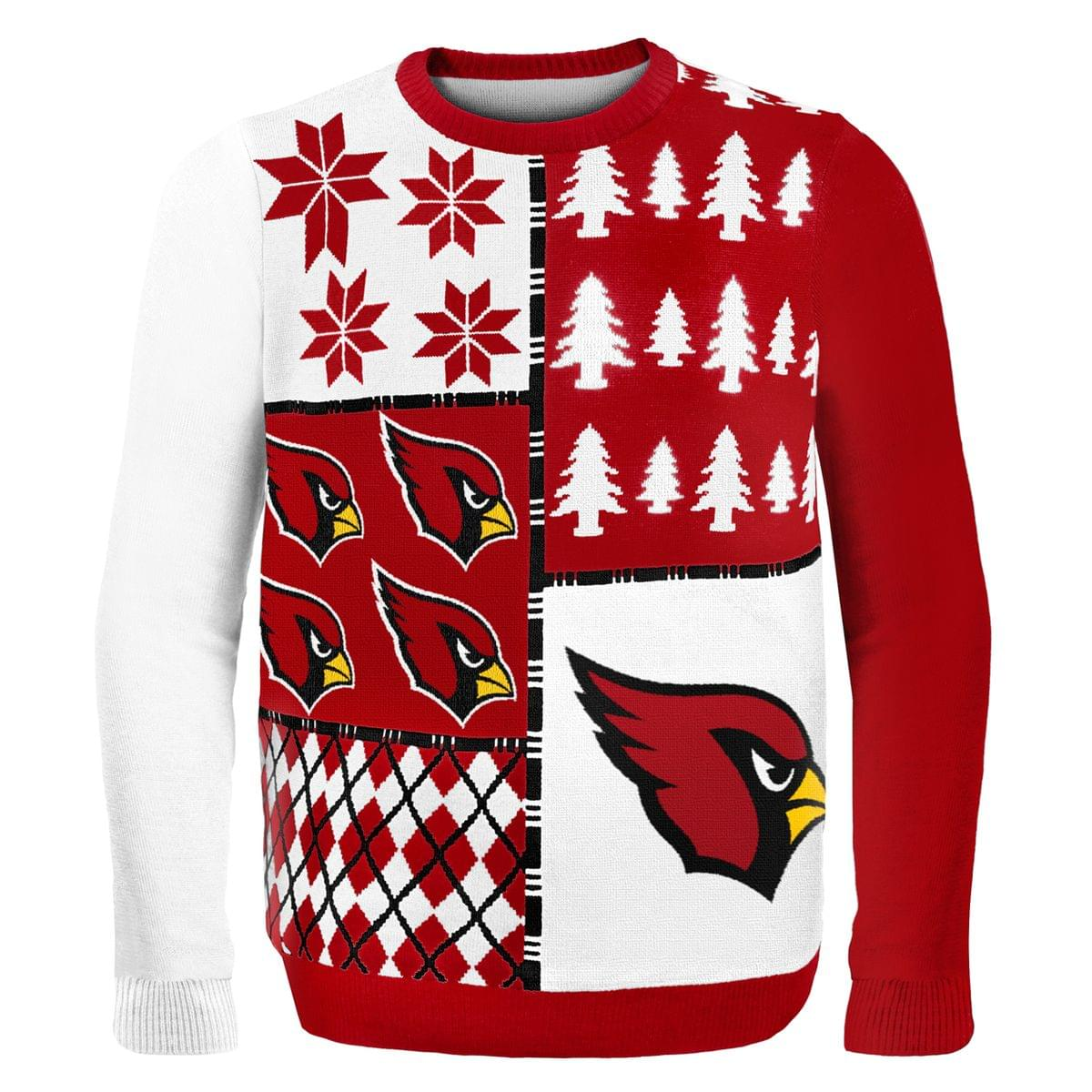 huge selection of b1de1 3592f Arizona Cardinals Busy Block NFL Ugly Sweater Large