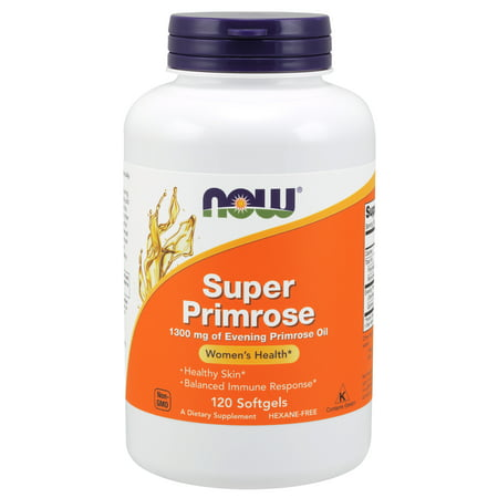 NOW Supplements, Super Primrose 1300 mg with Naturally Occurring GLA (Gamma-Linolenic Acid), 120