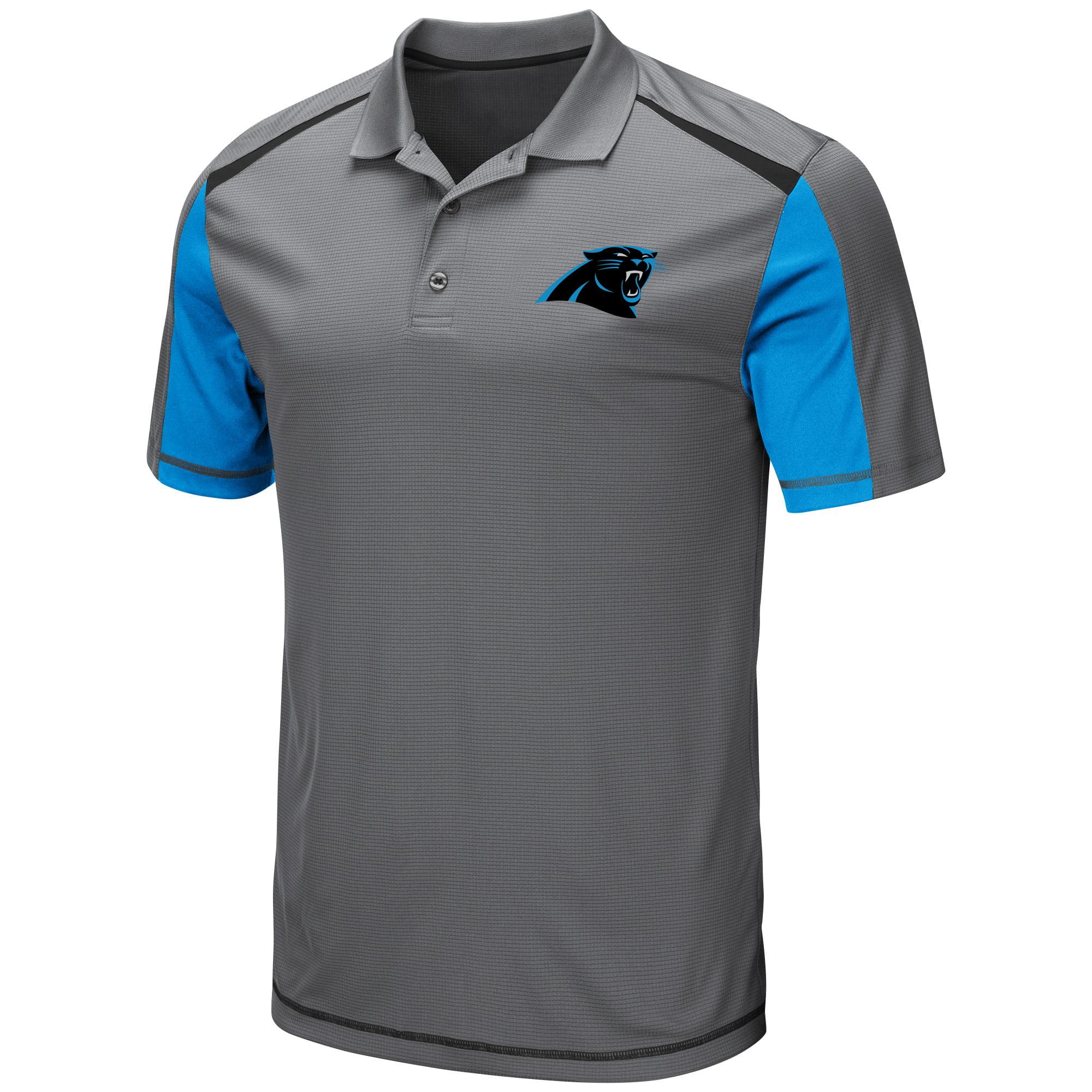 Men's Majestic Gray Carolina Panthers Draft Prize Polo