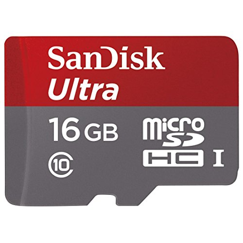 New SanDisk Ultra 16GB UHS-I/Class 10 Micro SDHC Memory Card With Adapter