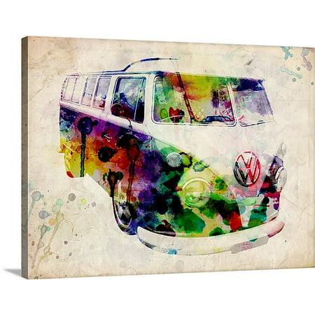 Great BIG Canvas | Michael Tompsett Premium Thick-Wrap Canvas entitled Camper Van Urban Art