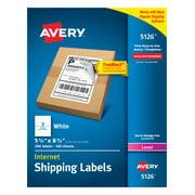 Avery TrueBlock Shipping Labels, 5-1/2