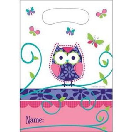 Owl Pal Birthday Loot Bag by Creative Converting - 081624 - Owl Birthday Party Supplies