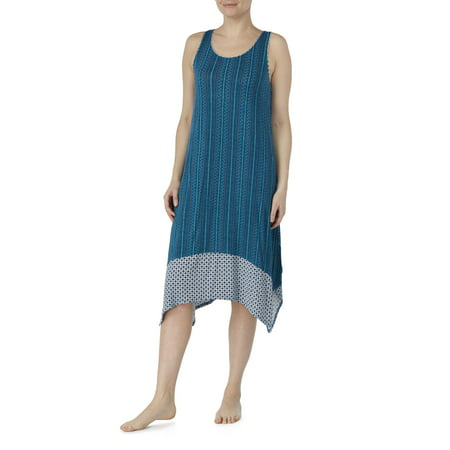 Women's and Women's Plus Modern Midi Sleepwear dress