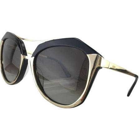 bf4ae1ba3b MCM - MCM 645S 733 Shiny Gold Black Plastic Sunglasses 58mm - Walmart.com