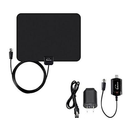Digital Signal Indoor Leaf Flat TV Antenna For HDTV DTV HD VHF UHF FM AM FTA