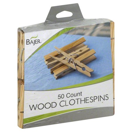 Bajer Design Marketing Bajer Wood Clothespins 50 Clothespins
