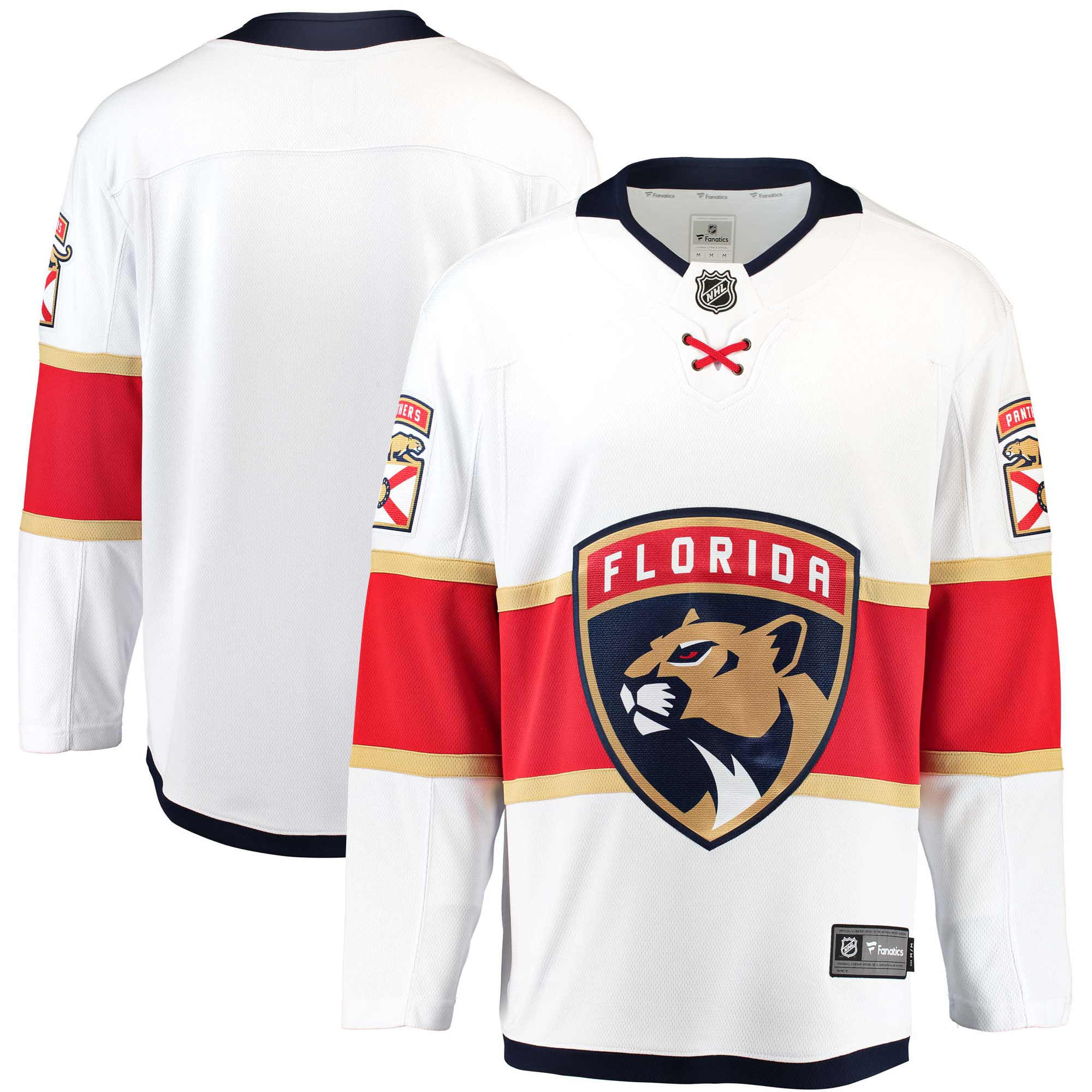 Florida Panthers Fanatics Branded Breakaway Away Jersey - White