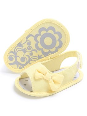 Newborn Baby Soft Sole Bowknot Shoes Toddler Crib Prewalker Shoes YE/12
