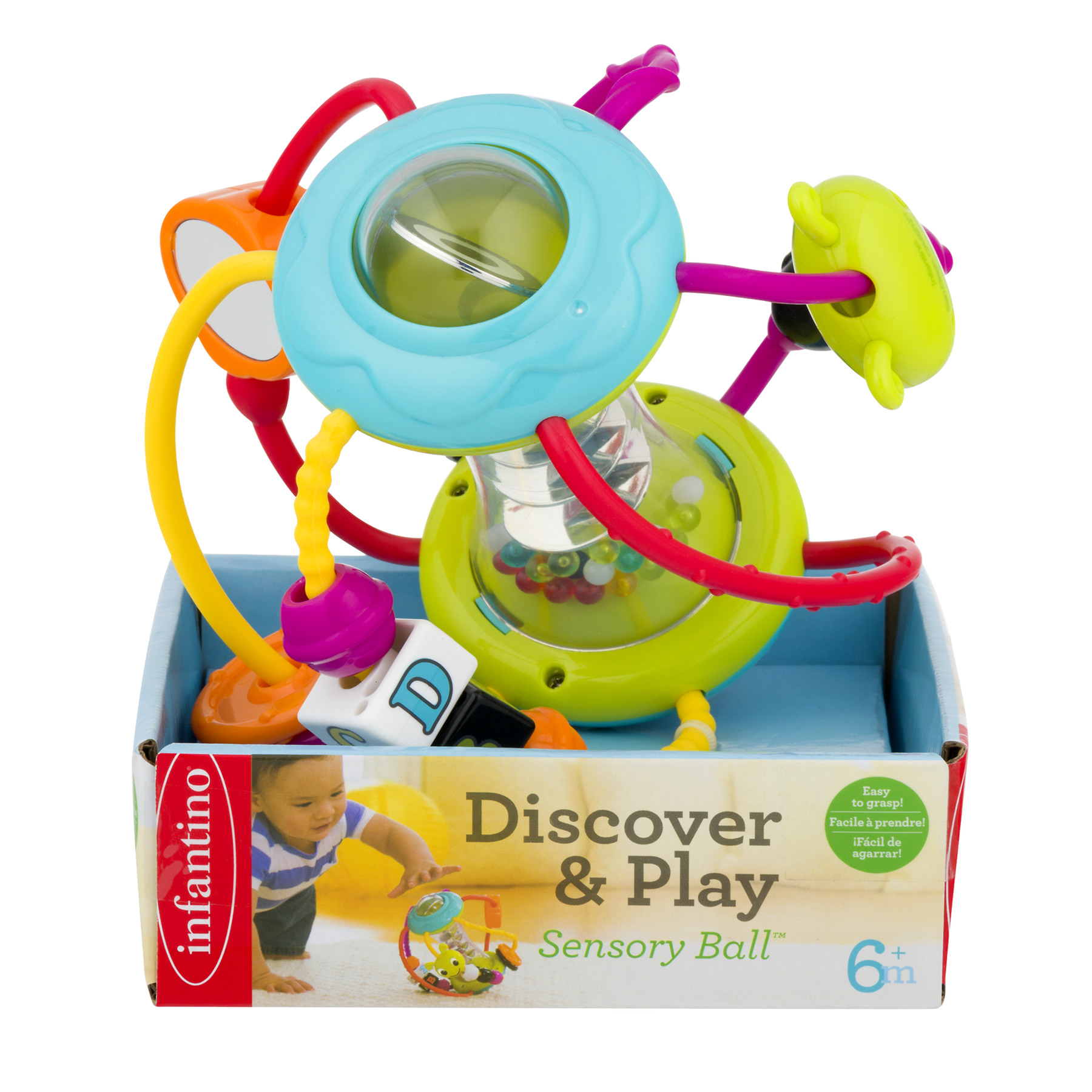 Infantino Discover & Play Sensory Ball 6+m, 1.0 CT