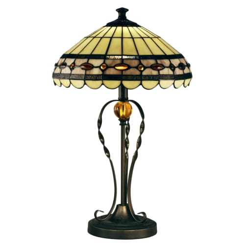 "Dale Tiffany STT15103LED Bert Single Light 24"" Tall LED Buffet Style Table Lamp with Tiffany Glass Shade"